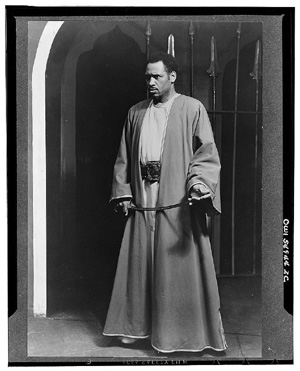Paul Robeson in Othello, Theatre Guild Production, Broadway, 1943-1944